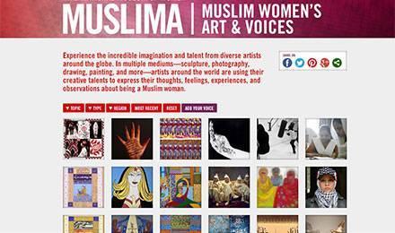 """Capture d'écran du site """"Muslima"""""""