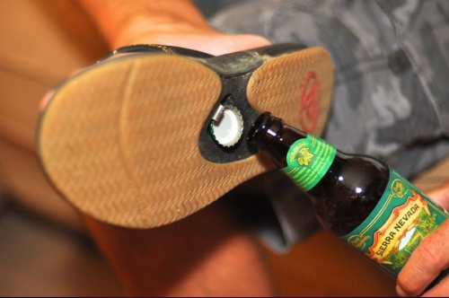 Reef Fanning Leather Bottle Opener Sandal