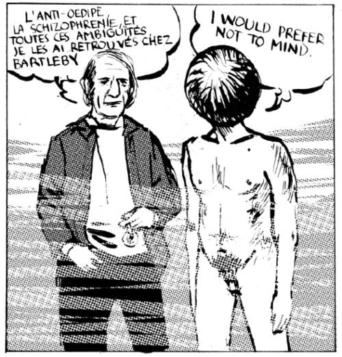 """illustration tirée de l'ouvrage """"Comprendre Deleuze"""" de P. Mengue et A. Cavaillez, éd. Max Milo"""