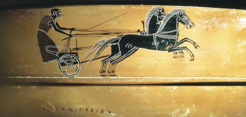 Un aurige (conducteur de char). Dans l'Antiquité, il y avait beaucoup moins de disciplines que dans les Jeux actuels : des courses hippiques et des épreuves athlétiques pour l'essentiel et aucun sport collectif. © BEBA/AISA / Bridgeman Images