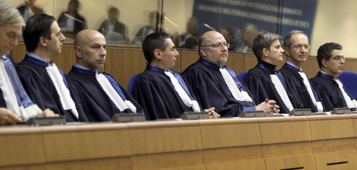Les juges de la Cour Europeenne des Droits de l'Homme © F. MAIGROT/REA